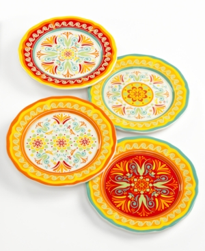 EuroCeramica Dinnerware, Set of 4 Egyptian Salad Plates